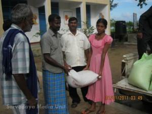 Sarvodaya relief work continues